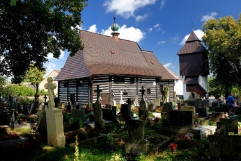 Dřevěný kostel sv. Jana Křtitele (The wooden Church of St John the Baptist), Slavoňov